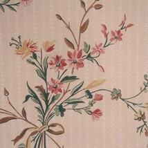 12sr Pink Floral Waterhouse Historic Archival Antebellum Victorian Wallpaper - $420.75