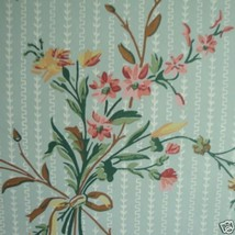 12sr Blue Floral Waterhouse Historic Archival Antebellum Victorian Wallpaper - $420.75