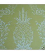 12sr Pineapple Stencil Handprinted Waterhouse Designer Wallpaper - $385.11