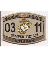 USMC United States Marine Corps MOS 0311 Rifleman Desert Patch - $9.97