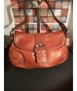 COACH Soho Women's Medium Brown Glove Leather Shoulder Hand Bag F10192  - $99.00