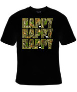 Happy happy happy UNIQUE Cool Funny Humorous clothes T Shirts Tees, Rude... - $14.99