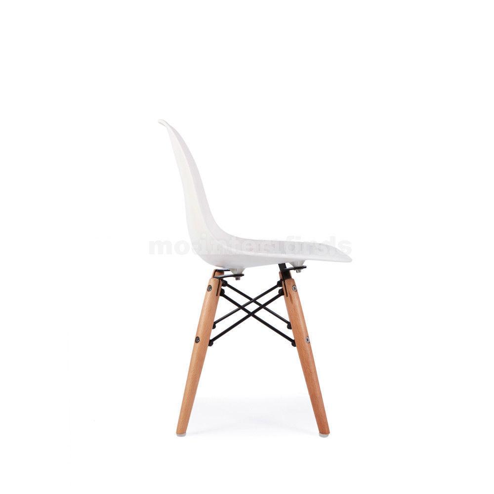 Mid century modern eames dsw style kids children white for White kids chair