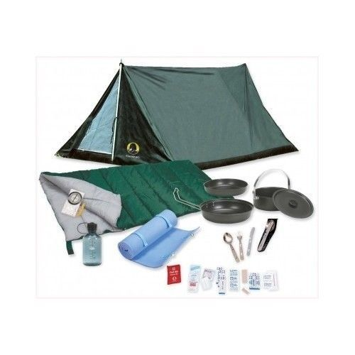 Camping Tents Scout Camping Value Bundle Set Military Style Pup Tent Hiking NEW
