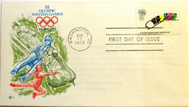 August 17, 1972 First Day of Issue, Cachet Cover, Winter Olympics-Bobsle... - $2.18