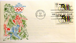 August 17, 1972 First Day of Issue, Cachet Cover, Summer Olympics-Bicycl... - $2.18