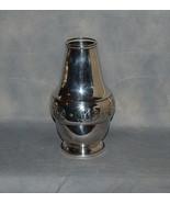 Danish Silverplate Art Nouveau Jugendstil Vase Entwined Leaves Beaded Bo... - $325.00