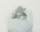 Modern Floating Stone Fashion Ring Ladies Size 7 - $25.50