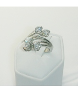 Statement Ring Lab Created Diamond and Stainless Steel Ladies Size 6 - $25.00
