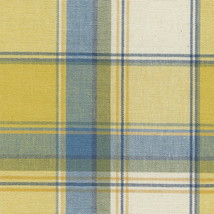 Longaberger Large Desktop Basket Cornflower Plaid Yellow Blue OE Liner N... - $13.81