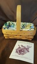 Longaberger 1996 Horizon Of Hope Basket #15911 Rose Trellis Fabric Prote... - $19.95