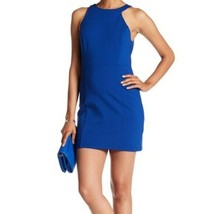 Halston Heritage Sleeveless Pointe Knit  Dress Cobalt  Blue  Misses 4 NEW - $99.00