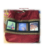 *Customized Patchwork Photo Pocket Tote Bag* - $45.00