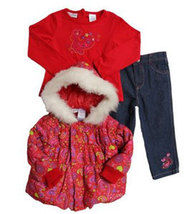 Baby Togs Toddler Girls Puffy Floral Jacket - $51.00