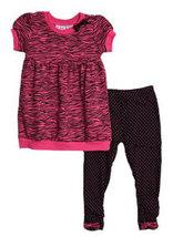 BT Kids Toddler Girls Zebra & Dots Capri Set - $38.00