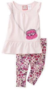 Baby Togs Toddler Girls 2 Piece Capri Legging Set