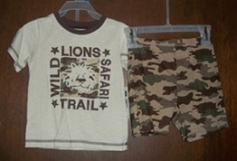 2T Toddler Boys Lion Safari Short Set  - $10.00