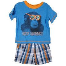 "Toddler Boys ""Surf Monkey"" Short Set - $32.00"