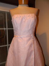 David's Bridal size 6 Pink Strapless formal Prom Pageant Cruise dress Pr... - $39.99