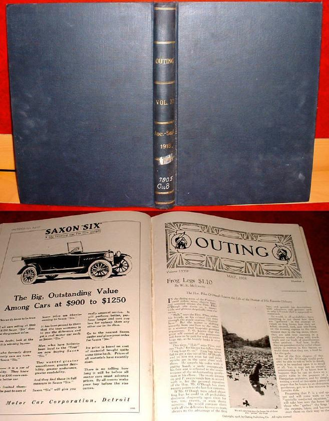 Outing Bound 1918 Sports Adventure Travel Fiction Hunting Wildlife Ads
