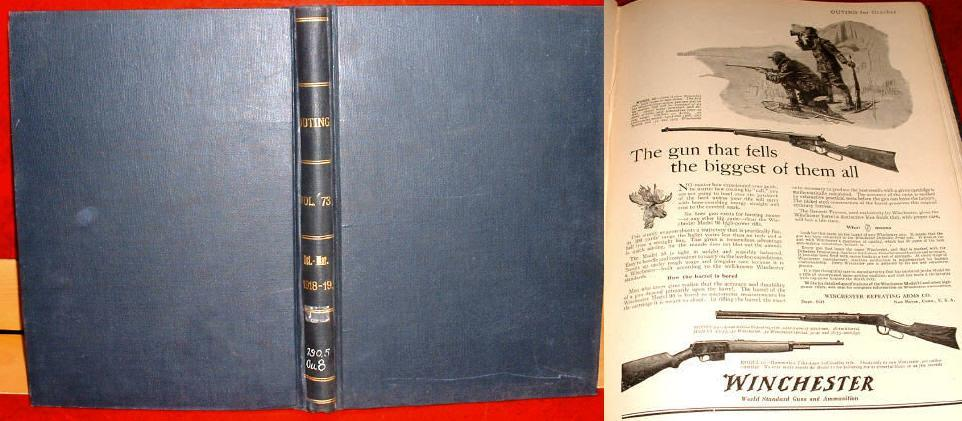 Outing Bound 1918-9 Sports Adventure Travel Fiction Hunting