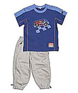 "Toddler Le Top Boys ""Racer!"" Knit Shirt & Woven Pant Set - $37.00"