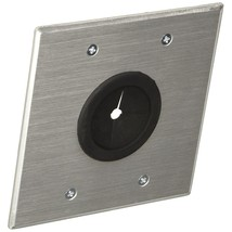 C2G 40546 1.5 Inch Grommet Cable Pass Through Double Gang Wall Plate, Br... - $36.99