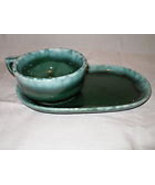 2 Old Hostess  HULL POTTERY  SNACKSETS Green Ag... - $59.99