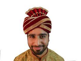 Traditional Handmade Men Hat Pagri Wedding Groom Turban Indian Safa  - $89.99+
