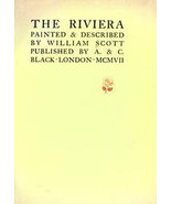 1907 Antique The RIVIERA Book Painted and Descr... - $49.99