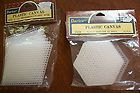 NOSPlastic canvas White Hi Straw Perforated Motifs Precut Forms 25 HEX 6 Sided