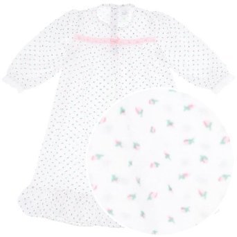 Toddler Girl's Long Sleeved Cotton Rosebud Nightgown