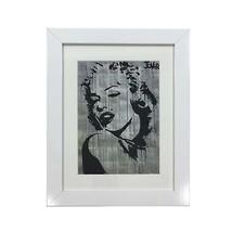 Silhouette Marilyn Monroe Loui Jover Print White Framed Wall Hanging 37X47X2CM - $27.28
