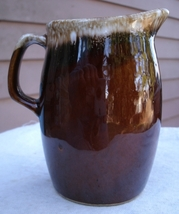 Vintage Hull Oven Proof Creamer Pitcher,vintage 1950s,brown glaze,potter... - $20.99