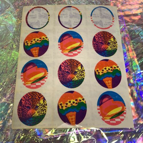Vintage Partial Lisa Frank Sticker Sheet S111 Missing Top 3 = 9 Stickers Cheetah