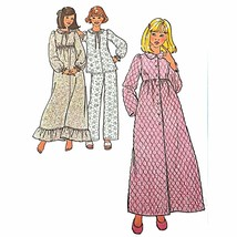 Juniors Nightgown Robe Simplicity 8765 Sewing Pattern 1978 Size 5/6-7/8 ... - $9.99