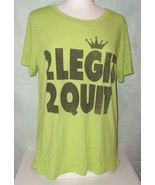 Lyric Culture Top XL Shirt MC Hammer 2 Legit 2 Quit Lime Green Ladies T-... - $12.00