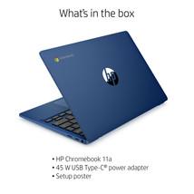"HP 11.6"" Chromebook Mediatek MT8183 4 GB RAM 64 GB eMMc Indigo Blue 11A-NA0015WM - $249.99"