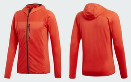 adidas TERREX TraceRocker Mens  Hooded Fleece Jacket CW0793, Hi-Res Red,... - $54.51