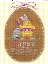 Happy Easter Stitch A Chocolate Egg Ornament Chart only Brooke's Books  - $7.20