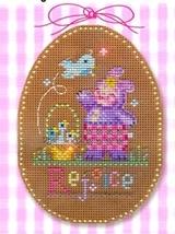 Rejoice Stitch A Chocolate Egg Ornament  cross stitch Brooke's Books  - $9.90