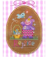 Rejoice   Stitch A Chocolate Egg Ornament Chart only Brooke's Books  - $7.20
