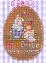 Easter Surprise Stitch A Chocolate Egg Ornament  cross stitch Brooke's B... - $9.90