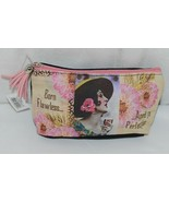 GANZ Brand Born Flawless Aged to Perfection Lady With Wine Glass Makeup Bag - $12.00