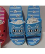 Women's Kitty Cat Sandals Slip On Shoes NWT Sz 6.5  Blue - $12.99