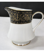 Fine Seyei China Regency 6908 Creamer Pitcher Table Ware Black Gold Whit... - $24.95