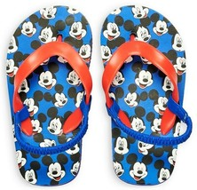 MICKEY MOUSE DISNEY JUNIOR Boys Flip Flops w/ Optional Sunglasses Beach ... - $9.89+