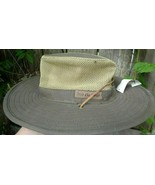 Bass Pro Shop Olive Green Brimmed Hat w Heat Relief Fabric - $20.00