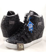 NEW! Women's adidas Originals Basket Profi Up Shoes Snake Skin Black Wedge Heel