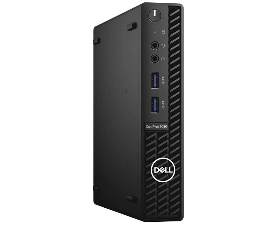 Dell OptiPlex 3080 Desktop, i3-10100T, 3 GHz, 8GB/128GB SSD, Micro PC, Win10Pro - $638.99